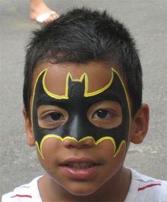 Trucco del viso per Carnevale per bambini da Batman