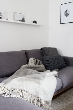Warm knits and textures in my living room: I'm all ready for winter - via cocolapinedesign.com #urbanara
