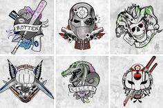 Suicide Squad : les posters-tatouages des personnages - Buzzinbox