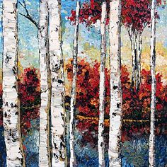 Silver Birches  by Maya Eventov