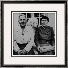 Lesbian Authors Gertrude Stein and Alice B. Toklas with their Poodle Basket II