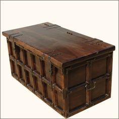 Kokanee Beaufort Primitive Solid Wood u0026 Iron Coffee Table Trunk & Storage trunk coffee table | Decorating Ideas | Pinterest | Trunk ...