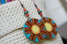 Acrylic painted earrings by TanyaTod on Etsy, $10.00