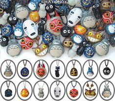 I am such a huge fan of the studio ghibli films so what better way to express my fandom than to dedicate a special collection page on my website to it! One of a kind, hand crafted polymer clay neck...