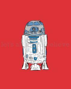 Star Wars R2D2 Illustration