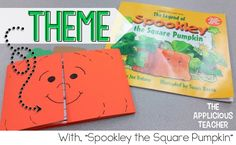 """to help your students understand themes in stories. Great ideas for using """"Spookley the Square Pumpkin"""" to help your students understand themes in stories."""