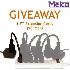 "Weekly giveaway starts right now!   Are you ready for holiday decorations? Get 10 short extension cords to help you power the fun!  RULES: 1) Like our page 2) Tag friends and/or share post each friend/share = 1 chance to win (optional) 3) Comment ""done"" in the comments section below 4) We will assign you a number 5) Winners chosen Monday at 5pm  Good luck everyone!"