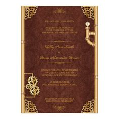 69 best wedding invitation ideas images on pinterest invitations steampunk large rectangular invitation fandeluxe Image collections
