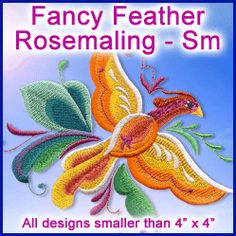 A Fancy Feather Rosemaling Design Pack - Sm design (X0432) from…