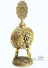 Ormolu Filigree Vintage Perfume Bottle Floral & Cherub Motifs