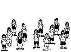 【どうなってるの】12人のはずが、13人に増える不思議な絵(GIF画像) | COROBUZZ