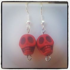 Red Skull Earrings. $5 Aust. From Rags To Bags on FaceBook.