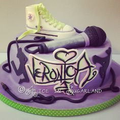 Hop hop cake with converse all stars