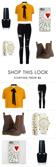 """Untitled #34"" by fangirlultimate ❤ liked on Polyvore featuring Elvi, Miss Selfridge, Dr. Martens, Charlotte Russe and OPI"