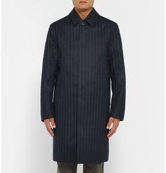 Kingsman - + Mackintosh Dunoon Pinstriped Coated Wool Raincoat |MR PORTER