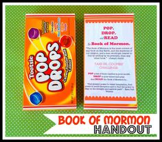 Marci Coombs: Book of Mormon Handout.