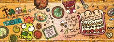 Toad-in-the-Hole by Admira Pustika    They Draw and Cook: 107 Recipes Illustrated by Artists from Around the World