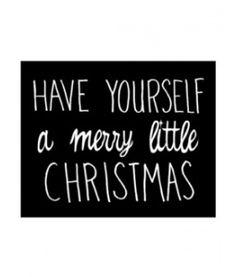 merry little christmas printable