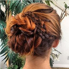 cute braid bun <3<3 Visit http://www.makeupbymisscee.com/ For tips and how to's on #hair #beauty and #makeup