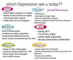 which depression are you