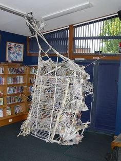 AllenCentre - Rolled Newspaper Structures