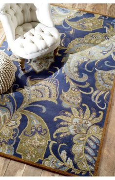 Rugs USA Couture Paisley MA101 Blue Rug. Rugs USA $99 Sale! Area rug, rug, carpet, design, style, home decor, interior design, pattern, trends, home, statement, fall,design, autumn, cozy, sale, discount, interiors, house, free shipping, Halloween, fall decorations, fall crafts, fall décor, great winter, winter, warm, furniture, chair, art.