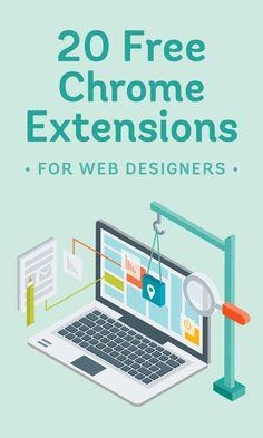 20 extensiones de Chrome para diseño web.