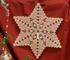 Snowflake or Star. possibly Russian. No where to be found on linked page & unable to find a pattern. Originally pinned in 2013 Susan Boyer Bobbin Lace Patterns, Crochet Patterns, Bruges Lace, Crochet Snowflakes, Lacemaking, Lace Heart, Lace Jewelry, Crochet Tablecloth, Irish Crochet