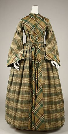 Dressing gown Date: mid-19th century Culture: American Medium: wool wrapper civil war era fashion