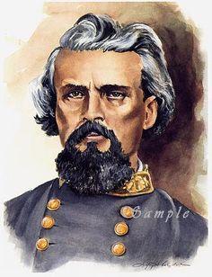Civil War Print Confederate General Nathan Bedford Forrest. $30.00, via Etsy.