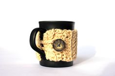 12 Days of Christmas - 12 Free Crochet Patterns - Day 5 - Organic Mug Cozy #crochetnature #freecrochetpattern #mugcozy