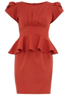 Rust structured overlay dress - View All - Dresses - Clothing - Dorothy Perkins United States