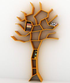 Bookshelf in shape of tree (is that sick? since trees were killed to make books)