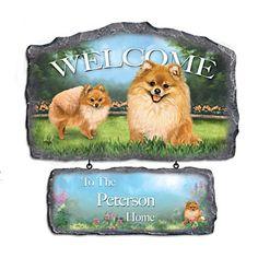Linda Picken Pomeranian Art Personalized Welcome Sign