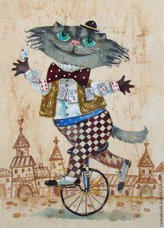 ALICE IN WONDERLAND - CHESHIRE CAT - BY ELENA RAZIN