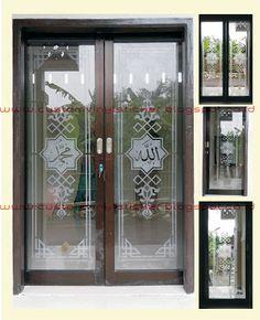 STICKRENZ: Sandblast Mosque Door Sticker