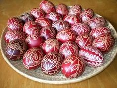 Onion Skin Dyed Easter Eggs