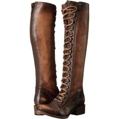 Freebird Arlo (Tan Multi) Women's Shoes (11.290 RUB) ❤ liked on Polyvore featuring shoes, boots, brown, over-the-knee boots, over the knee boots, brown lace up boots, thigh-high boots, over knee boots and brown over the knee boots