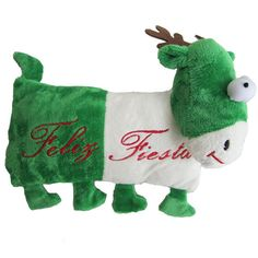 Iconic Pet Reindeer (Green) Holiday Christmas Stuffed Plush Pet (Dog) Pillow Toy - Small - Size : 10Filled with high quality micro soft plush and it can be easily carried outdoors.These Reindeer pillows are not only a unique holiday gift for your dog but also a perfect Christmas home decor.These stuffed dog toys are cute and cuddly, which gives more fun to your dog during play time.It is a perfect dog gift for frozen fans during Christmas Season.This holiday dog plush toy available in two…