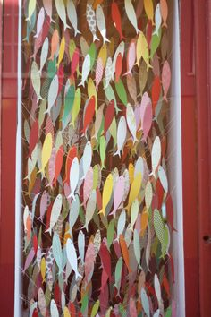 Would love to make a paper fish art wall somewhere in my house for my fishing family ... maybe even use old wallpaper samples?