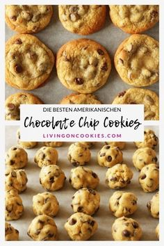 The best American chocolate chip cookies - Rezepte: Cookies & Kekse - Healty Dessert American Chocolate Chip Cookies, Chocolate Chip Cookies Rezept, Chocolate Cookie Recipes, Chocolate Chocolate, Healthy Chocolate, American Cookies Recipe, Chocolate Biscuits, Easy Cheesecake Recipes, Easy Cookie Recipes
