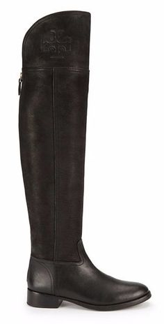 The Tory Burch Simone Over-the-Knee Boot is a versatile design that can be pulled high or worn cuffed, offering two looks in one #torybootcamp