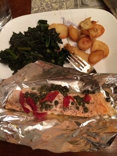 Salmon with capers and sundried tomatoes