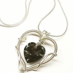 Silver Heart #jewlery #silver #handmade #swarovski #stribro #nahrdelnik #rucniprace