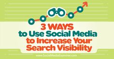 3 Ways to Use Social Media to Increase Your Search Visibility - http://www.socialmediaexaminer.com/3-ways-to-use-social-media-to-increase-your-search-visibility?utm_source=rss&utm_medium=Friendly Connect&utm_campaign=RSS @smexaminer
