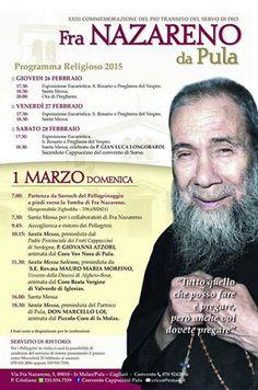 #Pula 4 giorni di celebrazioni per ricordare il 20° anniversario della morte di Fra Nazareno http://t.co/eOQhCP7Zpg http://t.co/zcy4RzYWCK  www.pula.it