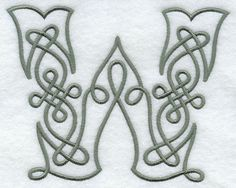 Celtic Knotwork Letter W - 5 Inch