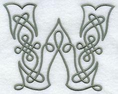Celtic Knotwork Letter W - 5 Inch