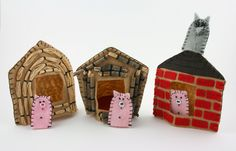 The Three Little Pigs Felt Finger Puppet Set Traditional Tales, Felt Finger Puppets, Puppet Making, Felt Fairy, Three Little Pigs, Pull Toy, Adult Crafts, Kids Toys, Children's Toys