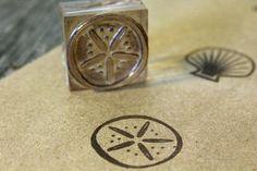"Sand Dollar Rubber Stamp (1"" x 1"" )"